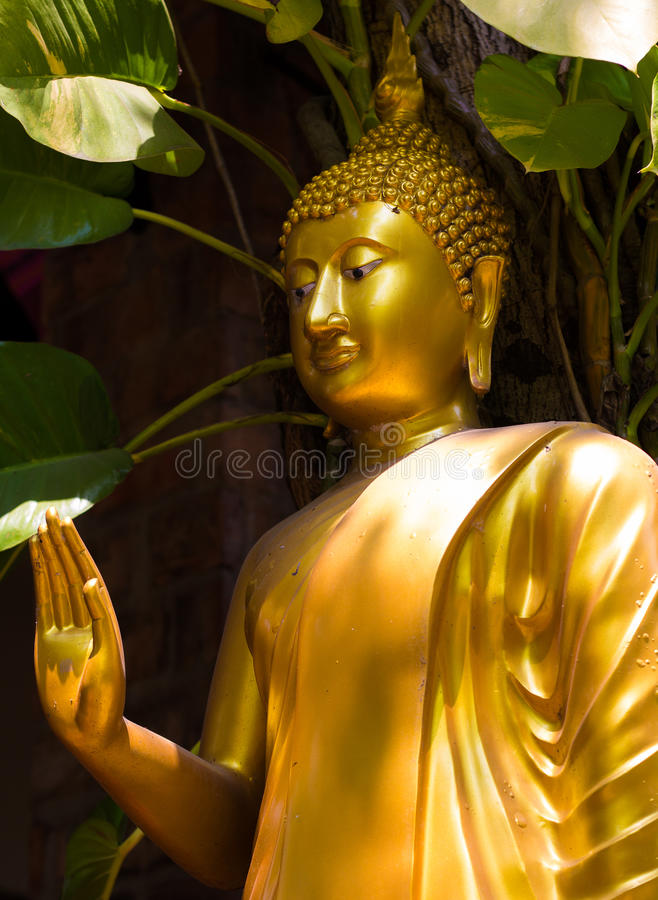 Golden statues stock photos