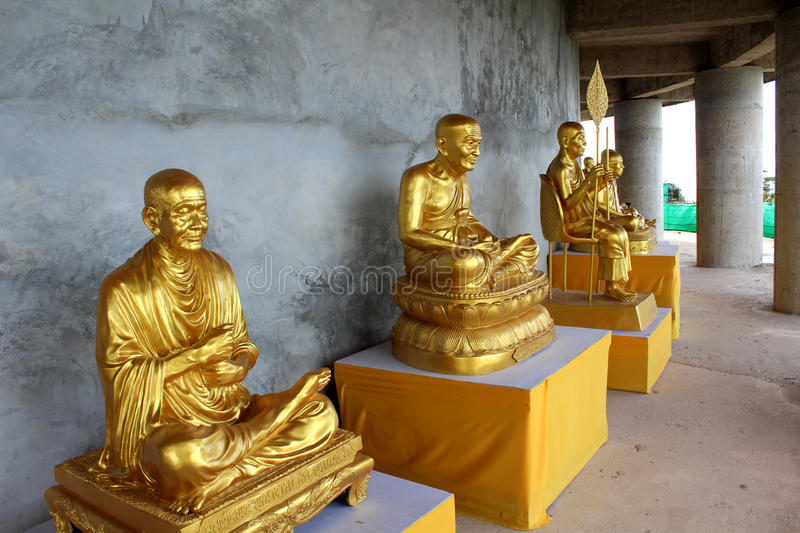 Download Golden Statues Of Buddhist Abbots Stock Photo - Image: 27187452