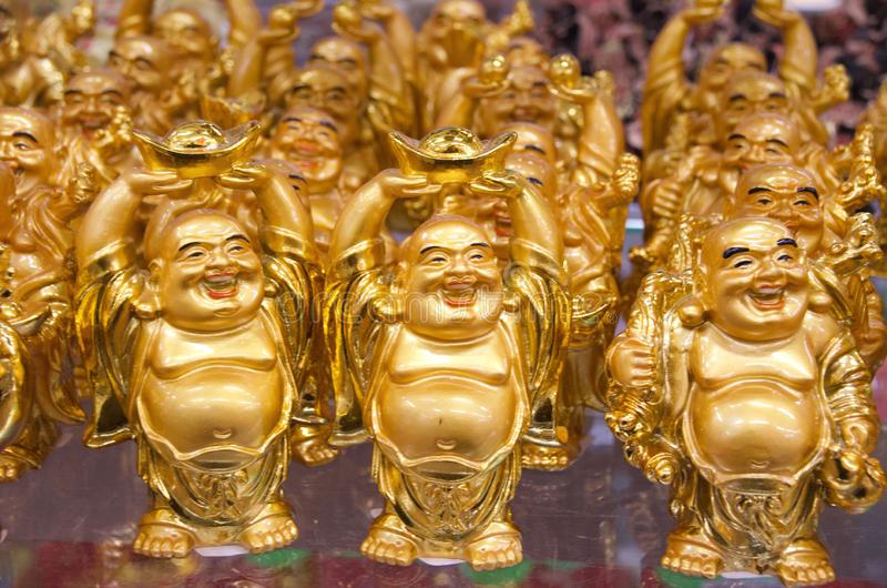 Golden Buddhas royalty free stock images