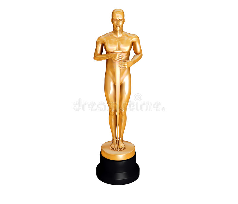 Golden Statuette stock illustration
