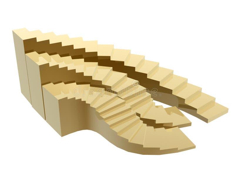 Download Golden steps to success stock illustration. Image of illustration - 6203963