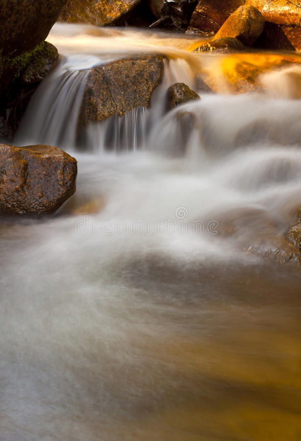Free Golden Stream Cascade Royalty Free Stock Photography - 21781427