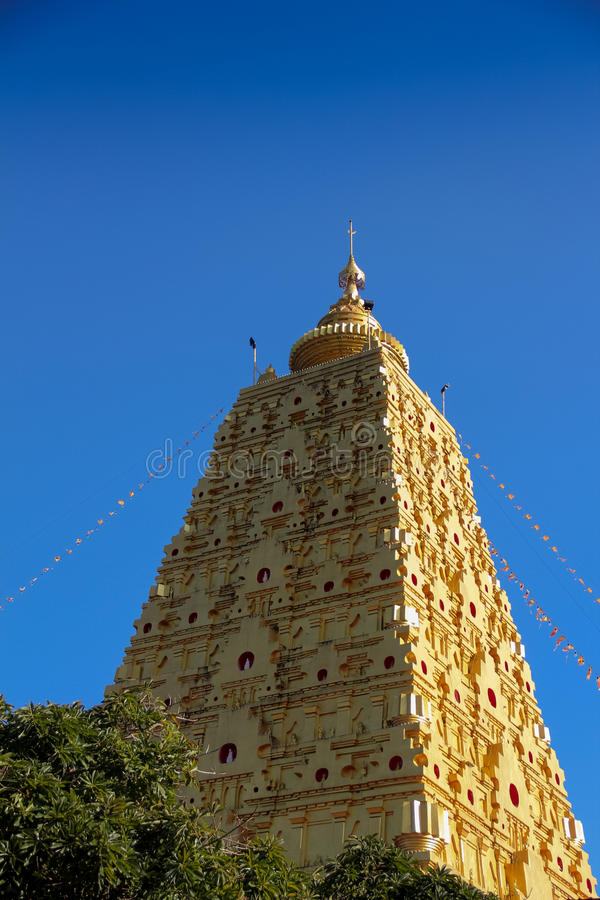 Golden Stupa, Kanchanaburi, Thailand royalty free stock photography