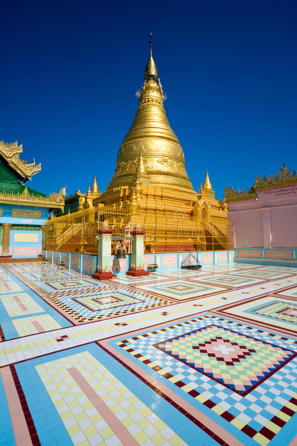 Free Golden Stupa, Sagaing, Mandalay, Myanmar. Stock Images - 12218804