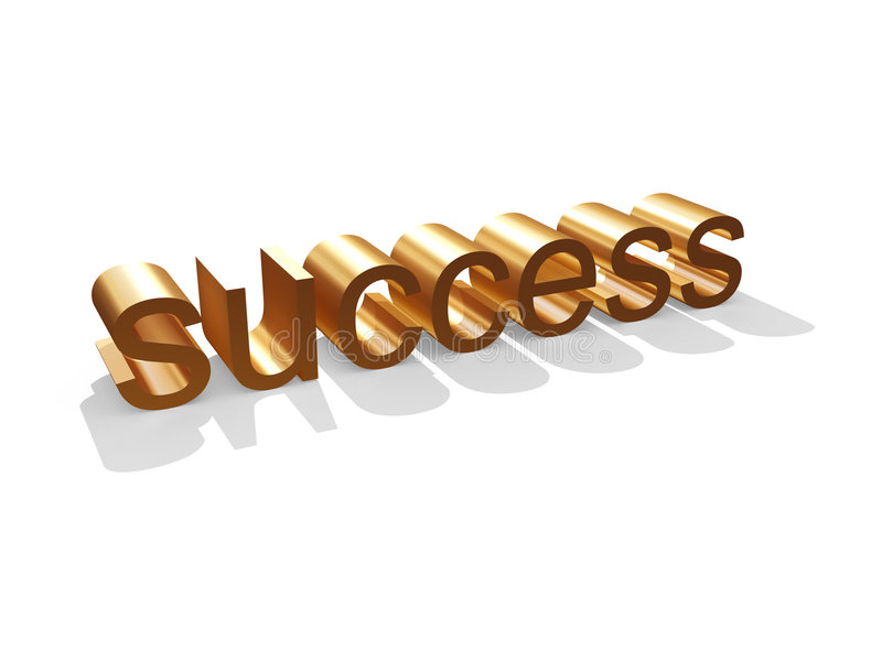 Golden Success stock illustration