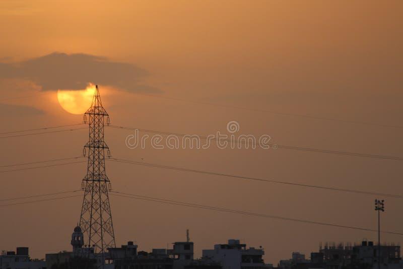 Golden sun stock photo