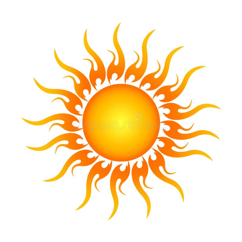 Golden Sun logo in . stock illustration