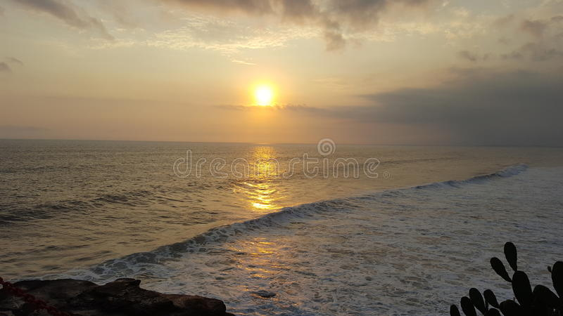 Golden sun stock image
