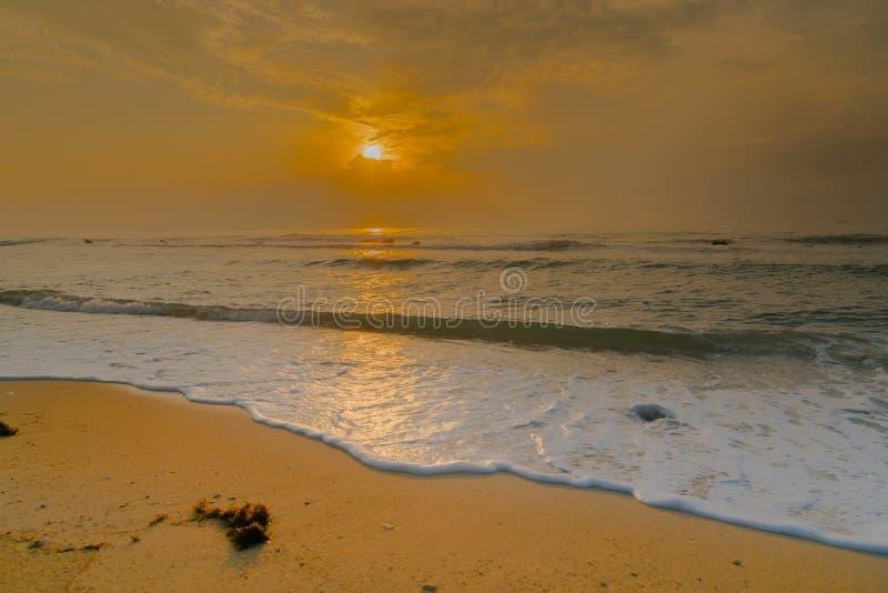 Golden sunrise on Koh Samui royalty free stock photo