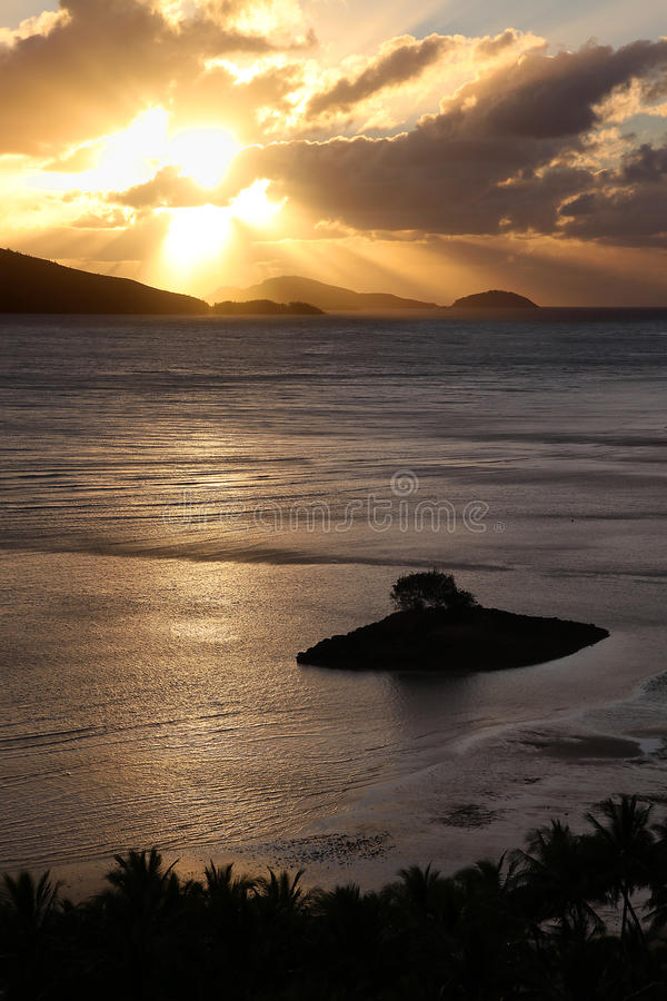 Download Golden Sunrise Over The Tropical Islands Stock Image - Image: 40335999