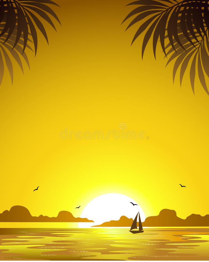 Download Golden sunset stock vector. Image of beauty, dusk, clouds - 17200893