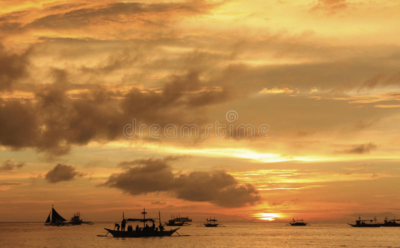 Golden sunset royalty free stock images