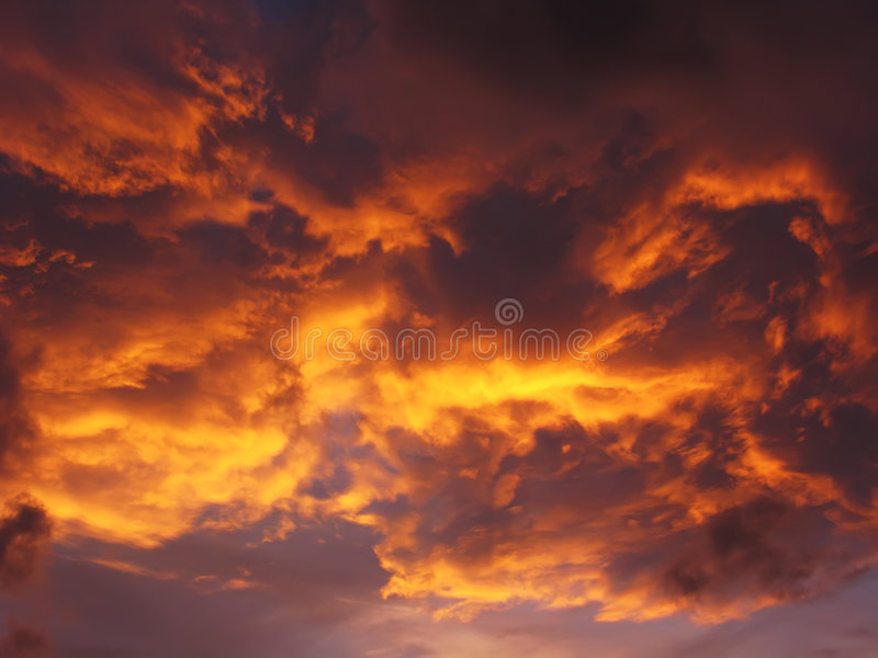 Download Golden Sunset And Cloudscape Stock Image - Image: 6224965