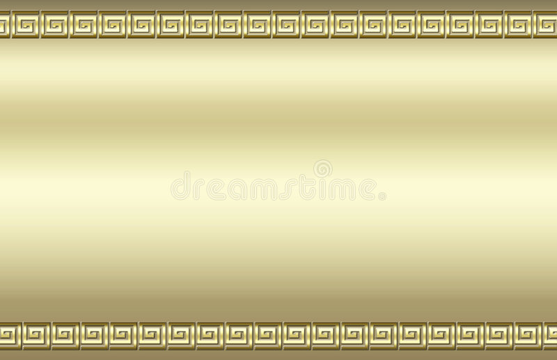 Golden swirl border vector illustration