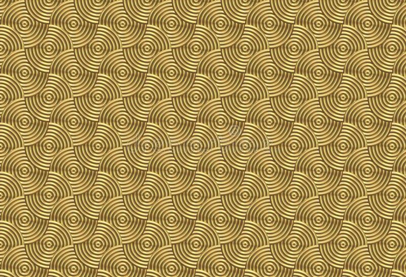 Golden Swirls Stock Photo