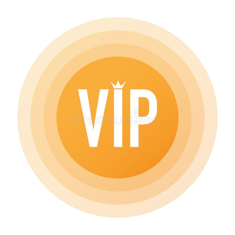 Golden symbol of exclusivity, the label VIP with glitter. Very important person. Golden symbol of exclusivity, the label VIP with glitter. Very important person stock illustration