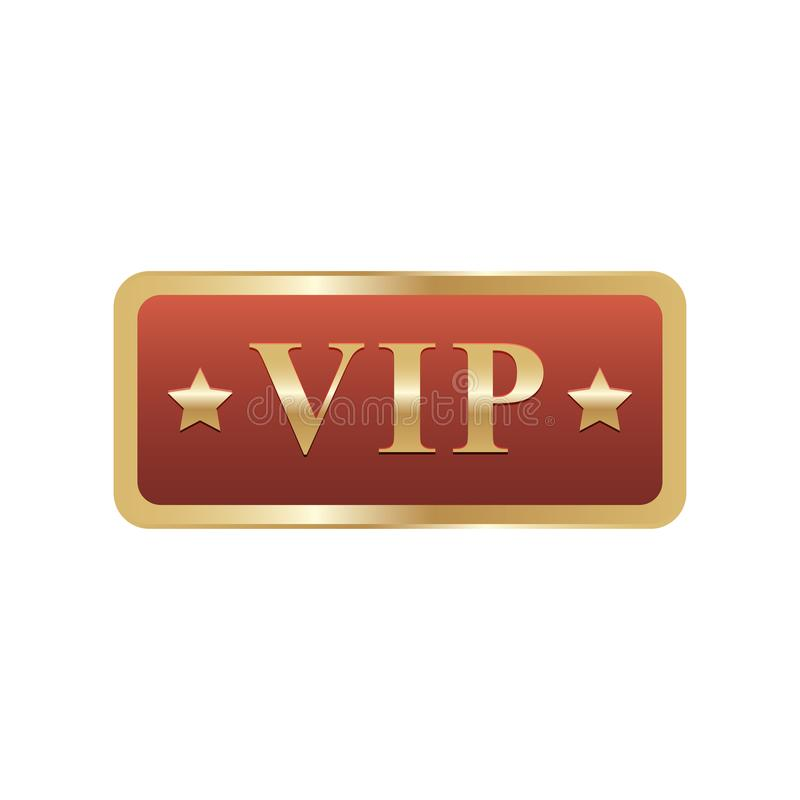 Golden symbol of exclusivity, the label VIP with glitter. Very important person - VIP icon on dark background Sign of exclusivity. With bright, Golden glow vector illustration