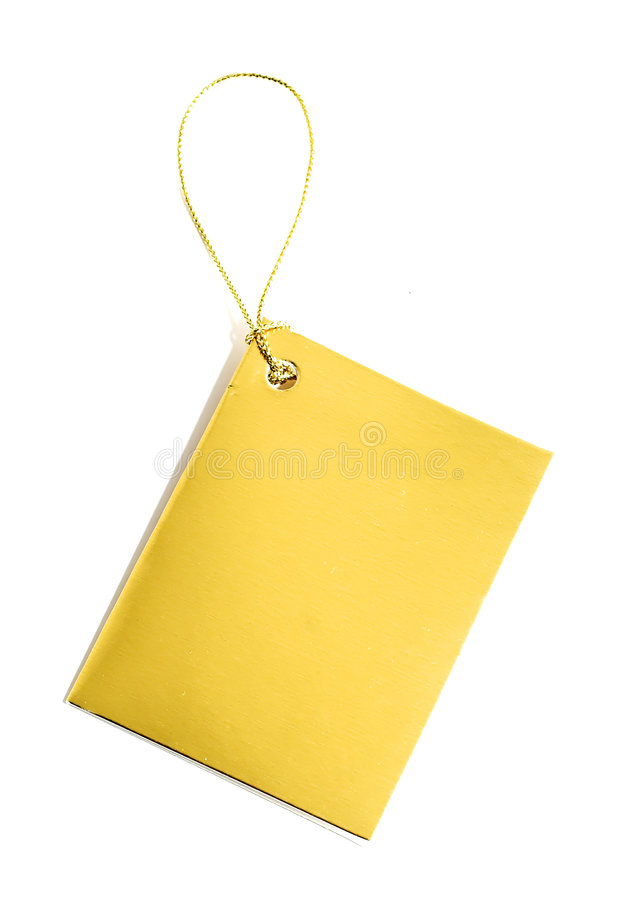Golden Tag stock photography