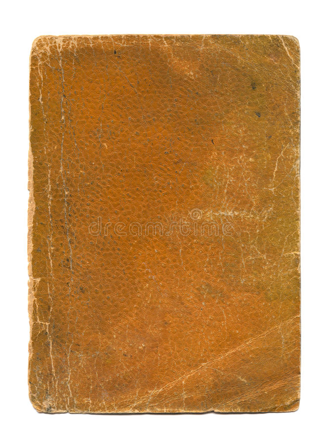 Golden Tan Textured old Book Cover royalty free stock image