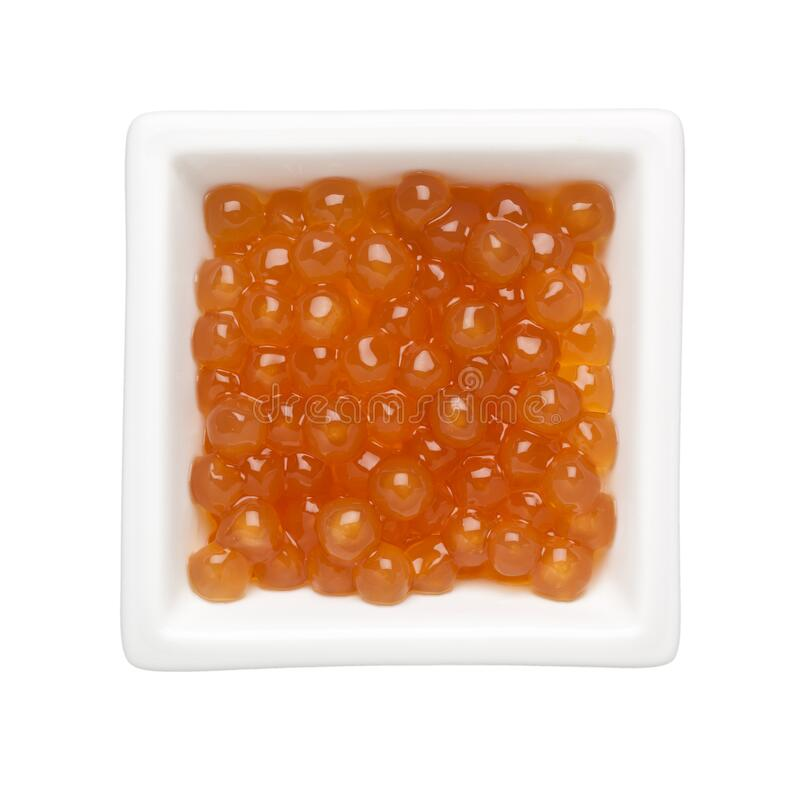 Golden tapioca pearls royalty free stock photography