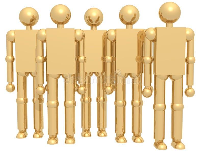 Golden Team royalty free stock image