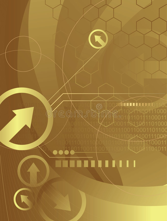 Download Golden Technology 1/2 Royalty Free Stock Images - Image: 4718469