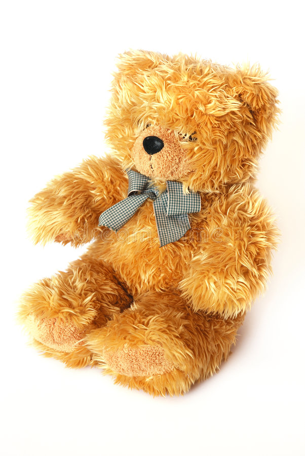 Golden teddy bear stock photo