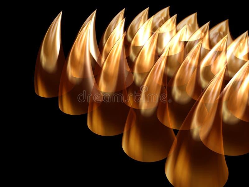 Golden teeth stock photos