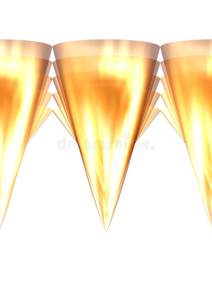 Golden teeth 6 royalty free illustration