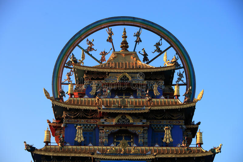 Golden Temple. Bylakuppe is the largest Tibetan settlement in India located near Kushalanagar in Kodagu district. The settlement set up in 1960 holds a several stock photos