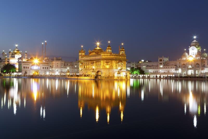 Golden Temple, Amritsar - India. Golden Temple at night in Amritsar - India stock photos