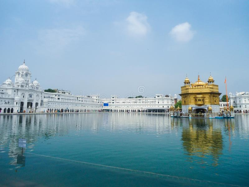 Golden temple in Amritsar , Punjab stock photography