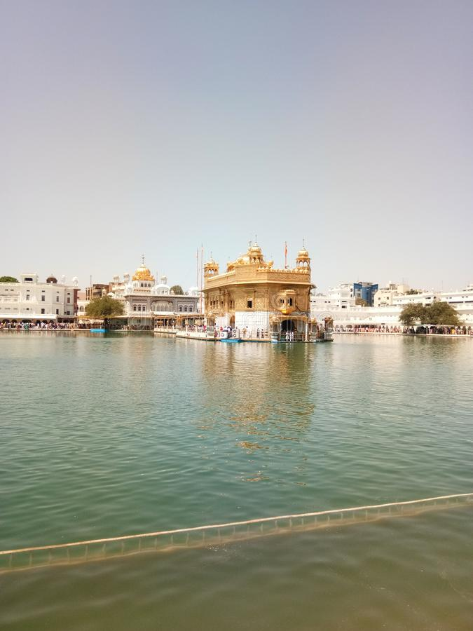 Golden temple amritsar punjab india asia famous in amritsar. Golden temple amritsar punjab india asia famous in royalty free stock photos