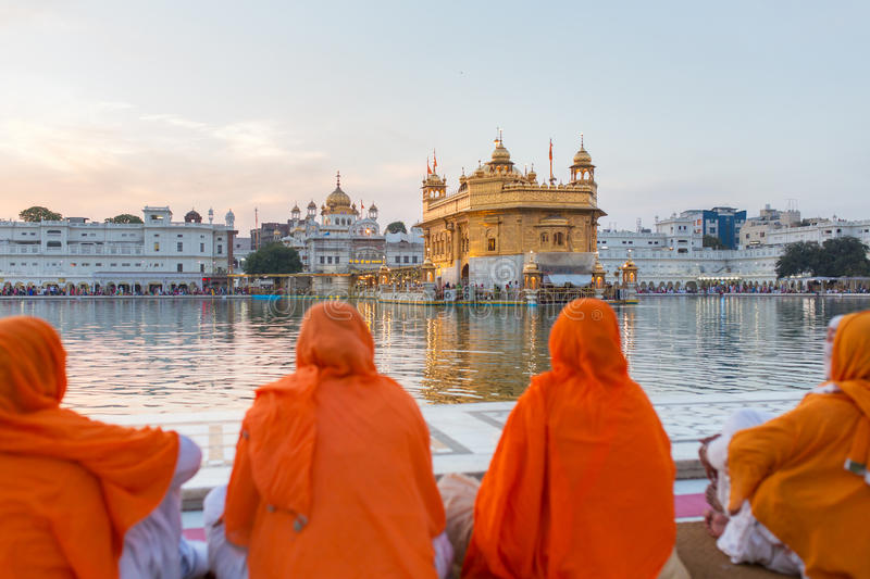 Golden Temple in Amritsar, Punjab, India royalty free stock photography