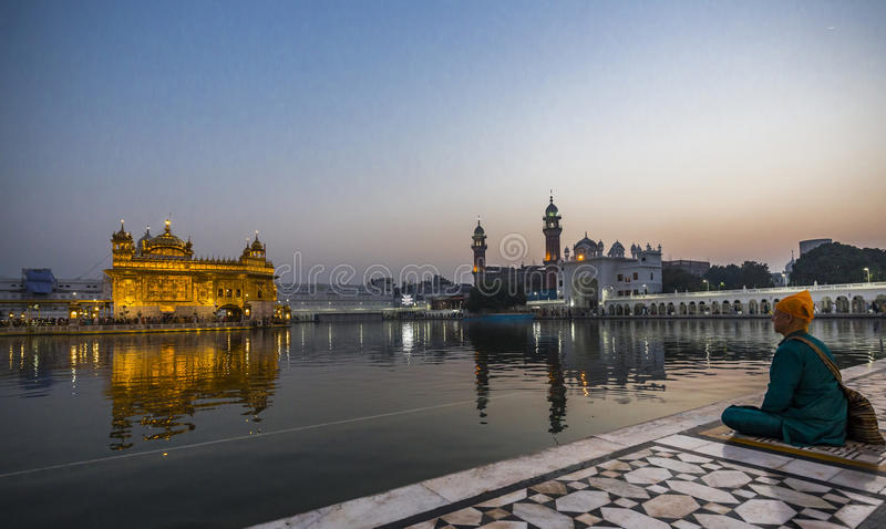 Golden Temple, Amritsar, Punjab, India. Golden Temple The Harmandir Sahib also Darbar Sahib and informally referred to as the Golden Temple is a prominent Sikh stock image