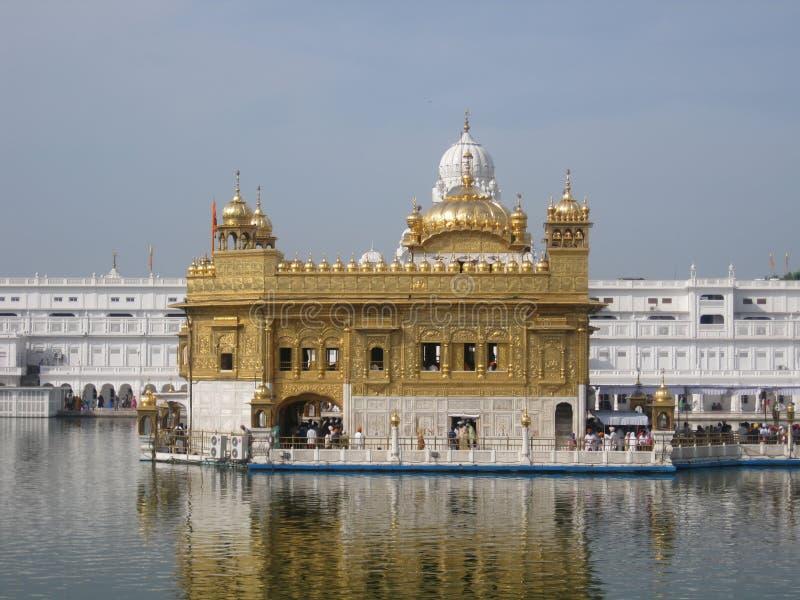 Golden temple in Amritsar - Sri Harimandir Sahib. Holy temple of the Sikhs - Amritsar, India royalty free stock photography