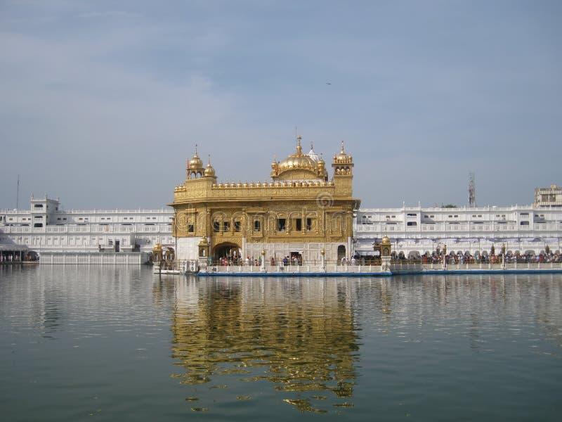 Golden temple in Amritsar - Sri Harimandir Sahib. Holy temple of the Sikhs - Amritsar, India stock photography