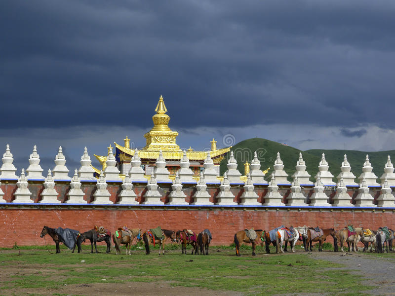 Golden Temple With Cloudy Royalty Free Stock Photography