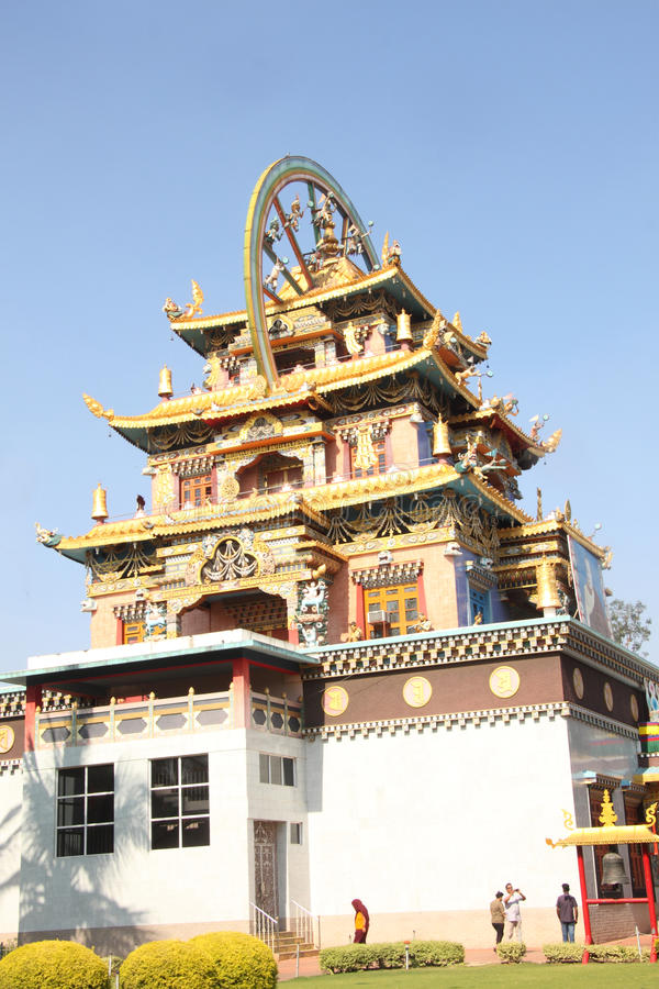 Download Golden Temple Coorg editorial stock image. Image of bylakuppe - 35192329