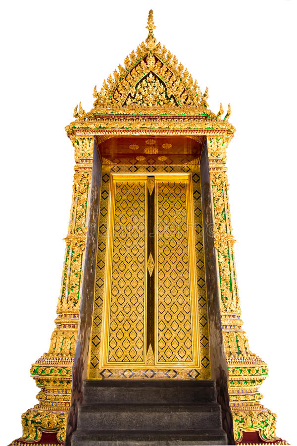 Download Golden Temple Door On White Isolate Royalty Free Stock Image - Image: 21046326