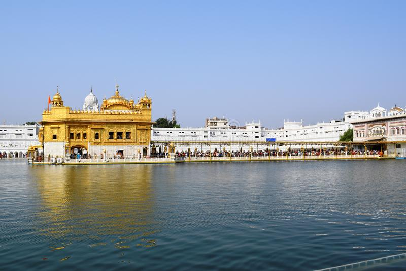 Golden Temple, Gurdwara located in the city of Amritsar, Punjab, India stock photos