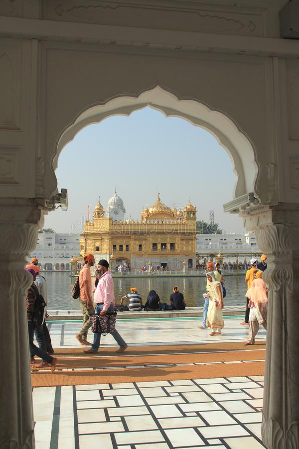 Golden Temple-3. The Harmandir Sahib The Golden Temple is the holiest shrine in Sikhism. It is located in the city of Amritsar - India stock photo