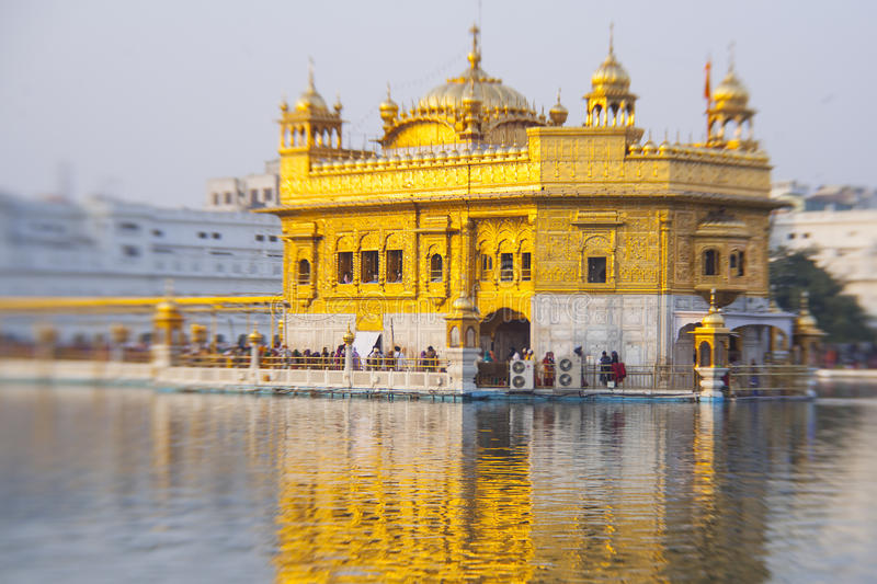 Golden Temple, the holiest Sikh gurdwara. In the world stock photos