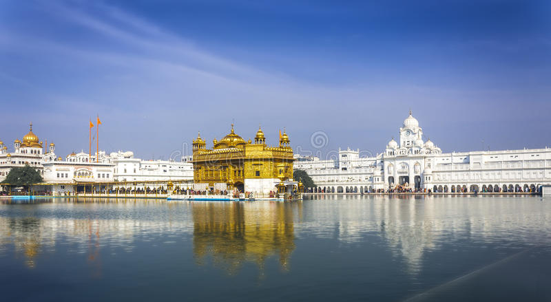 Golden Temple India. The The Golden Temple is the holiest shrine in Sikhism. It is located in the Amritsar, India royalty free stock images