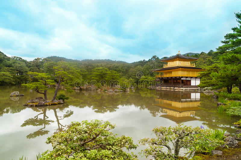 Golden temple. In Kyoto, Japan royalty free stock image