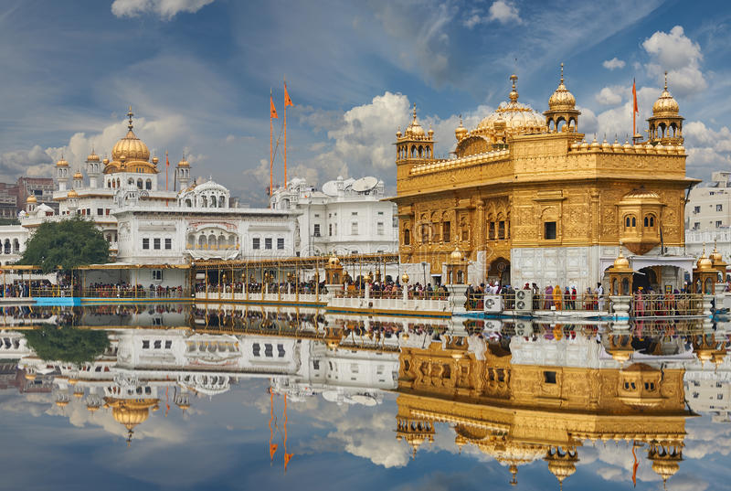 The Golden Temple, located in Amritsar, Punjab, India. stock images