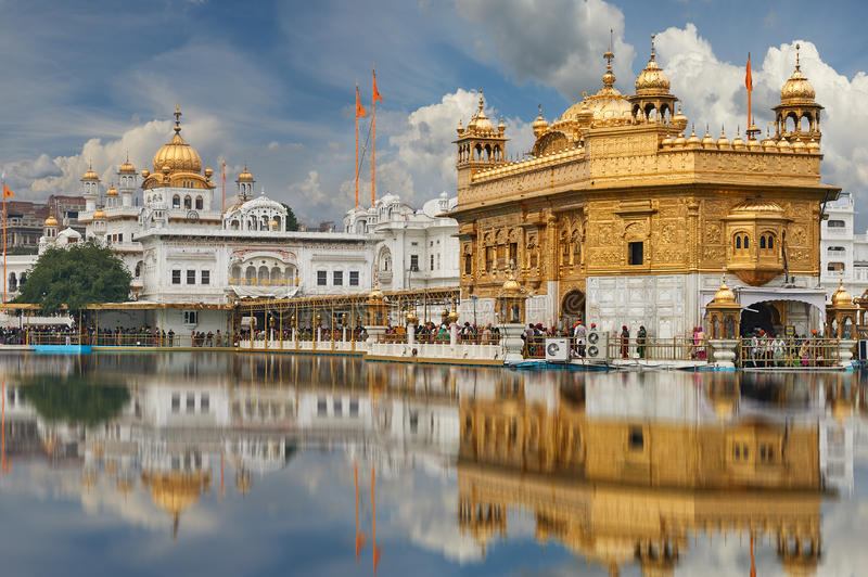 The Golden Temple, located in Amritsar, Punjab, India. royalty free stock photos