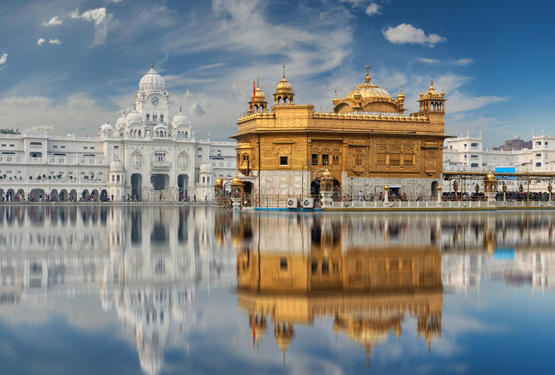 The Golden Temple, located in Amritsar, Punjab, India. stock photos