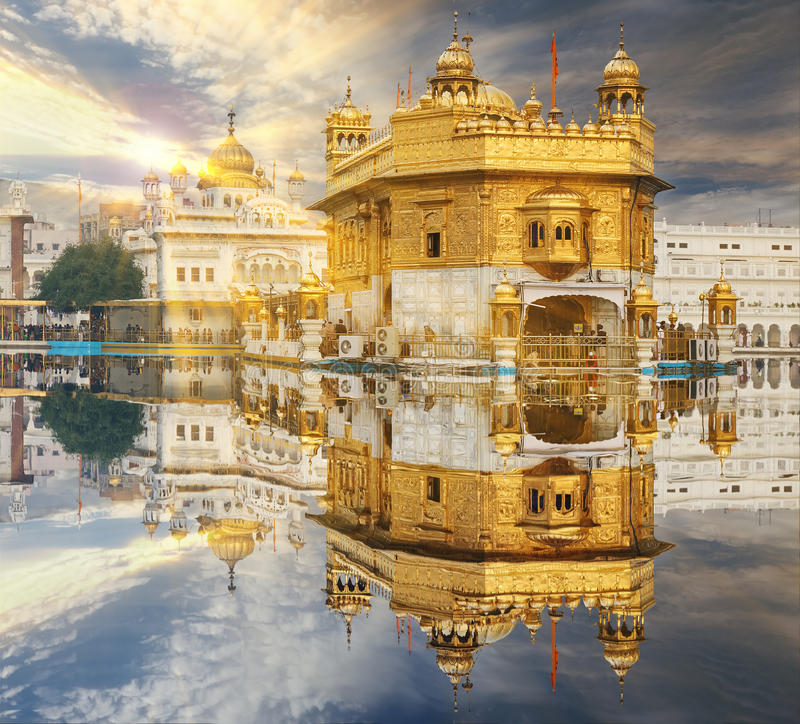 The Golden Temple, located in Amritsar, Punjab, India. royalty free stock image