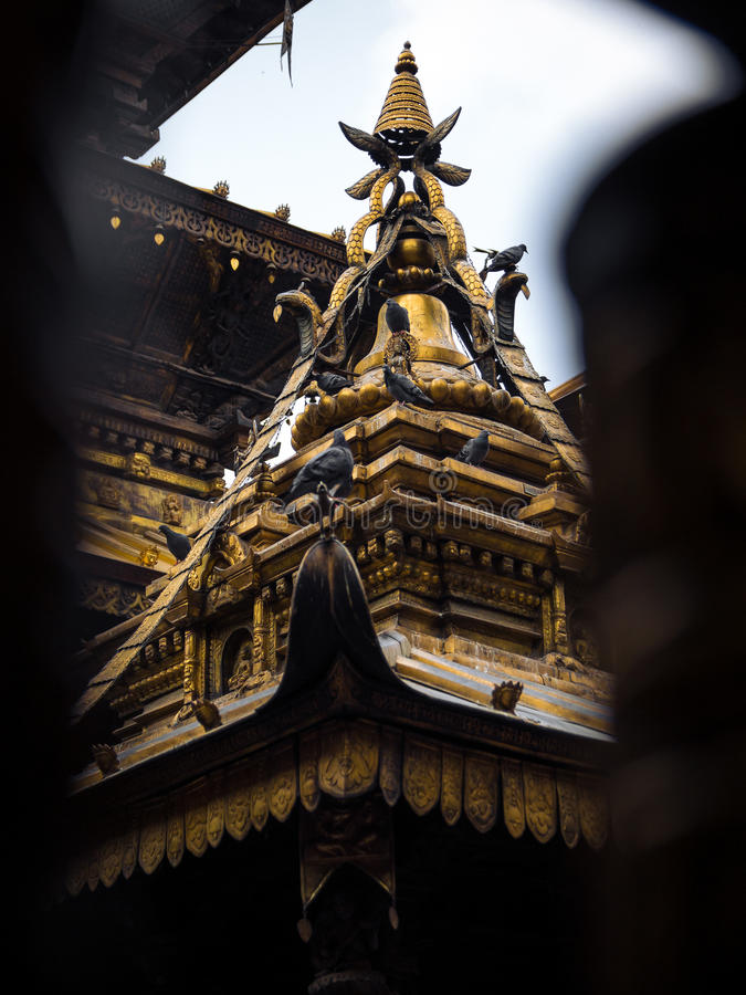 Golden Temple, Patan royalty free stock photo